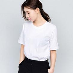 chuu - 圓領多選色T恤