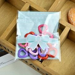 Ivyknoll - 蝴蝶結印花烘焙用包裝袋套裝(100件)