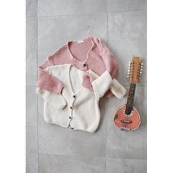 GOROKE - V-Neck Buttoned Chunky-Knit Cardigan