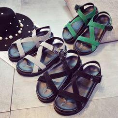 Laceuplux - Platform Sandals