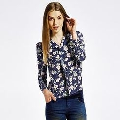 O.SA - Long-Sleeve Floral Blouse