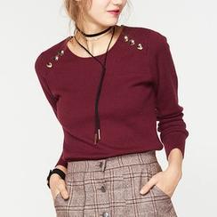 cachecache - Buttoned Knit Top