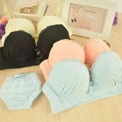 Heart2Heart - Set: Lace Trim Bra + Panties