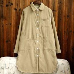 tete - Padded Corduroy Shirtdress