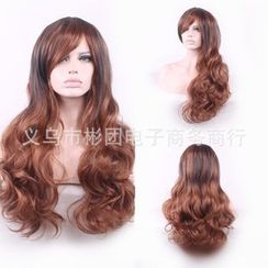 Wigstar - Party Long Full Wig - Highlighted & Wavy