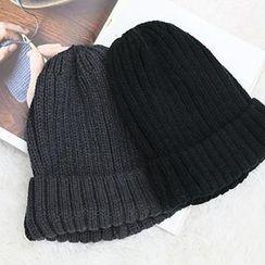 NANING9 - 羅紋針織無邊帽