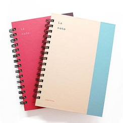 LIFE STORY - Color-Block Spring Note Book (A5)