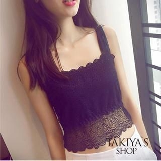 TAKIYAS - Lace Tank Top