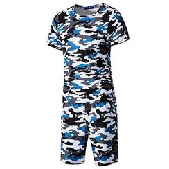 Fireon - 套裝: 迷彩短袖T恤 + 短褲