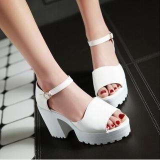 Tomma - Platform Block Heel Sandals