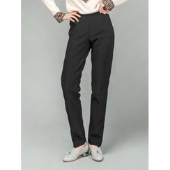 LOLOten - Brushed-Fleece Lined Straight-Cut Dress Pants