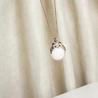 Love Generation - Rhinestone Owl Necklace