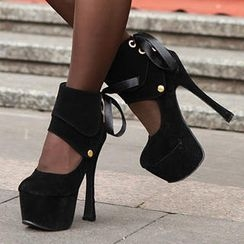 Mancienne - Detachable-Cuff Platform Stilettos