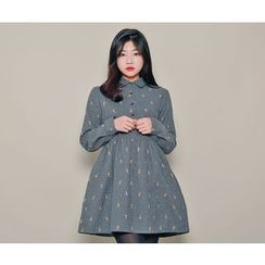 HOTPING - Pattern A-Line Shirtdress