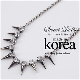 Sweet Dolly - Rhinestone Spike Necklace