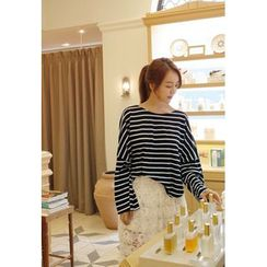 BBORAM - Dolman-Sleeve Striped T-Shirt
