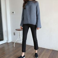 Hello sweety - Brushed Fleece Lined Straight-Cut Pants