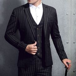 JORZ - Set : Pinstripe Blazer + Waistcoat + Pants
