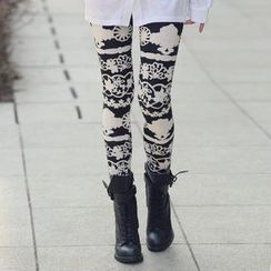REDOPIN - Flower Print Leggings