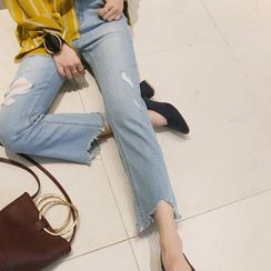 NANING9 - Distressed Blue Jeans