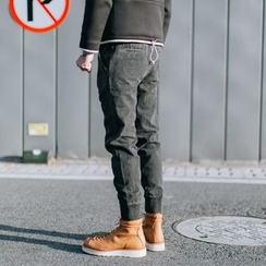 YIDESIMPLE - Washed Jogger Jeans