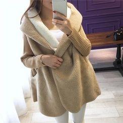 Angel Shine - Fleece Long Hooded Coat
