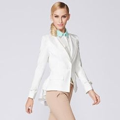 O.SA - Pleated-Panel Single-Button Blazer