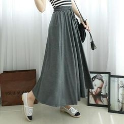 Dodostyle - Drawstring-Waist Maxi Skirt