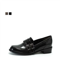 MODELSIS - Faux-Leather Buckled Loafers