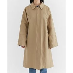 Someday, if - Zip-Up Cotton Trench Coat