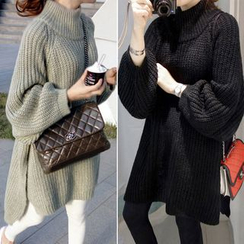 Hibisco - Long-Sleeve Thick Knit Dress