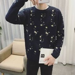 JUN.LEE - Floral Sweater
