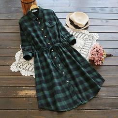 YOYO - Plaid Shirtdress