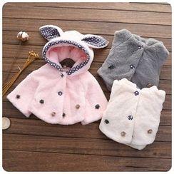 Rakkaus - Kids Hooded Faux-Fur Coat