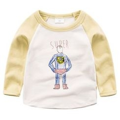 DEARIE - Kids Long-Sleeve Printed Raglan T-Shirt