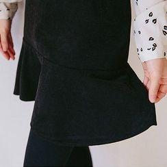 chuu - Ruffle-Hem Mini Skirt