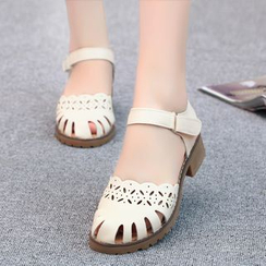 Pretty in Boots - Cut Out Sandals