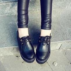 Zandy Shoes - Faux-Leather Platform Sneaker