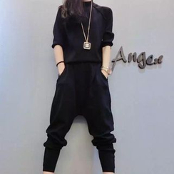 Fancy Show - 套裝: 插肩袖套衫 + 哈倫褲