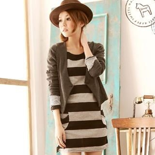 YUMI - Striped Pocket Dress