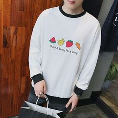 Besto - Fruit Print Sweatshirt