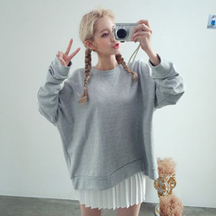 chuu - Colored Oversized Cotton Sweatshirt