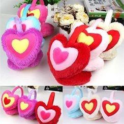 Evora - Heart Furry Earmuffs