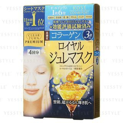 Kose - Clear Turn Premium Royal Gelee Hyaluronic Acid Mask