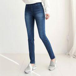 CLICK - Band-Waist Skinny Jeans