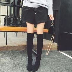 MOODGIRL - Woolen Shorts