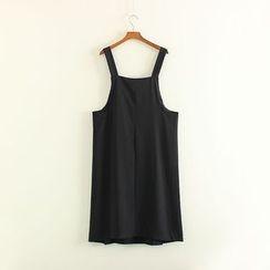 Mushi - Side Slit Pinafore Dress