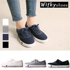 Wifky - Stitched Canvas Sneakers