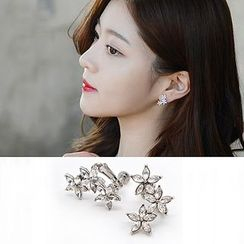 Avery - Rhinestone Clip-On Earrings