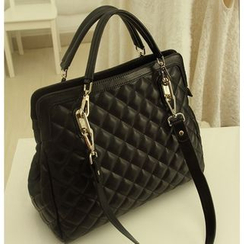 Yiku - Quilted Faux-Leather Shoulder Bag